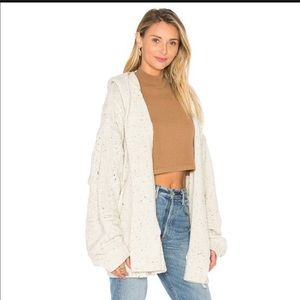 Wildfox chunky cable knit hooded cardigan